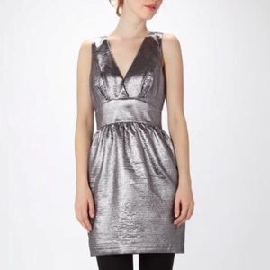 French Connection Princess Helen Silver Bow Dress